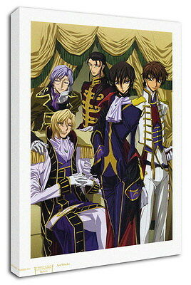 WK-C054 (521) Code Geass Zero Canvas Stretched Wood Framed 36x24inch Poster