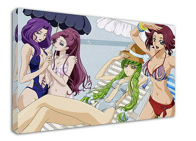 WK-C054 (535) Code Geass Zero Canvas Stretched Wood Framed 36x24inch Poster