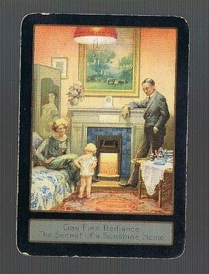 Swap Playing Cards 1 VINT  U.K. WIDE FAMILY BY THE GAS FIRE  SUPPER TIME G9