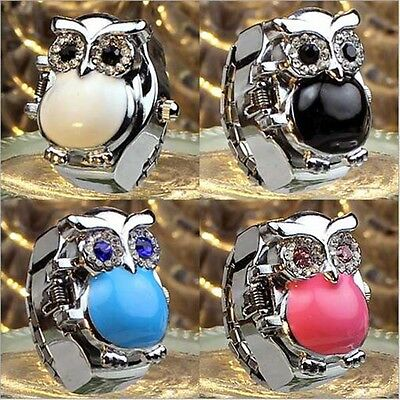 New Hot Fashion Owl Men Creativity Finger Ring Quartz Dial Watch Gift Colorful