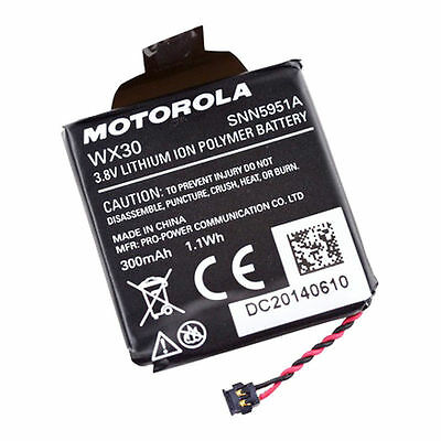 Original OEM Battery WX30 SNN5951A For Motorola MOTO 360 1st Gen Smart Watch