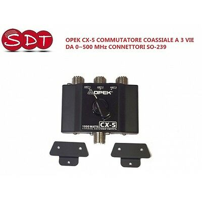 OPEK CX-5 SWITCH COAXIAL A 3 WAYS DA 0~500 MHz CONNECTORS SO-239