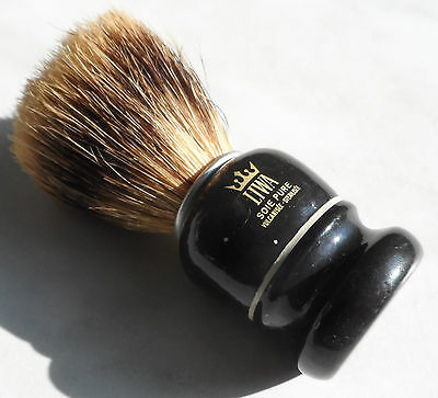 Vintage Liwa Shaving Brush West Germany Soie Pure Vulcanisee Sterilisee