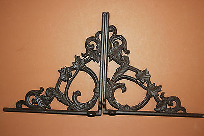 "(2),med.""elegant Leaf"",antique Look,shelf Bracket(S),corbels,beach Decor,b-37"