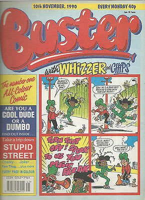Buster Comic - 10 November 1990 - With Whizzer & Chips