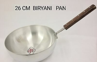 Master Cook Aluminium Grey WOK Frying Pan Lid Stir Fry - Catering Quality - 26cm