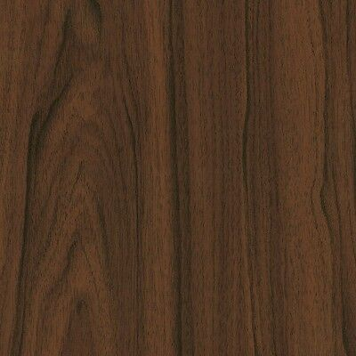Brown Dark Walnut Wood Woodgrain Sticky Back Plastic Self Adhesive Vinyl Film