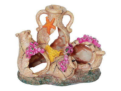 Rustic Pot Collection Fish Cave Decoration Ornament for Aquarium Fish Tank