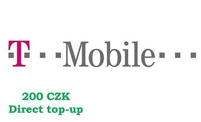 T-Mobile Czech Republic - Direct Top up / Refill for 200 CZK (for prepaid SIMs)