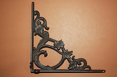 "(10),med.""elegant Leaf"",antique Look,shelf Bracket(S),corbels,beach Decor,b-37"