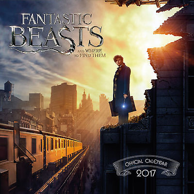 Fantastic Beasts Official 2017 Wall Calendar Square Brand new 9781785490798