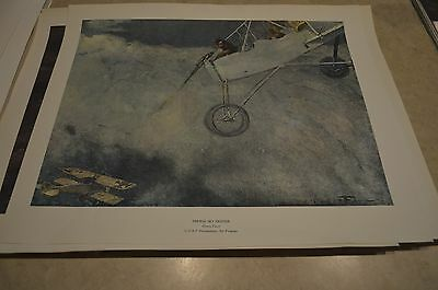 Reproduction WW1 Poster French sky fighter Henry Farre 1915