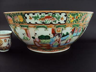 STUNNING Chinese 19thC Antiques Oriental Porcelain Famille Rose Bowl