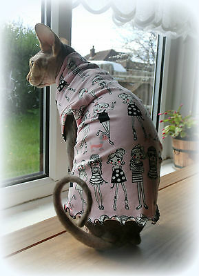 4 way stretch SUMMER clothes for a cat, Sphynx clothes, HOTSPHYNX Sphynx apparel