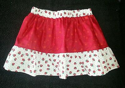 New girls fruity strawberry frilly skirt. Stars. Age 6-9. Quirky. Original. Cute