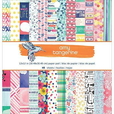"""American Crafts Amy Tangerine Better Together 12""""x12"""" Paper Pad 48 Sheets 373985"""