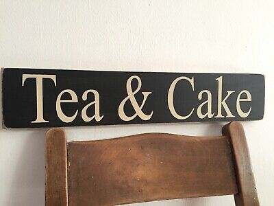 Tea Cake Cafe Sign Vintage Old Look Shop pub cup cake kitchen coffee bakery