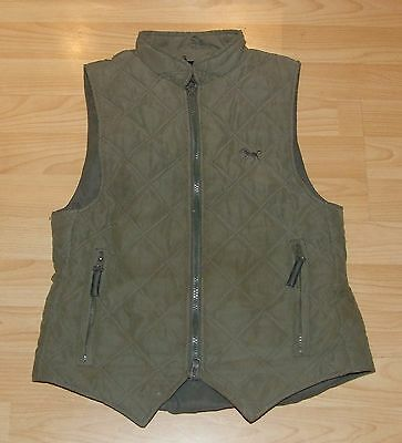 Child's LOVESON Moleskin Gilet Bodywarmer Equestrian Horse Riding Country Size L