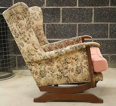 VINTAGE 1940s WINGBACK ROCKING CHAIR/ARMCHAIR/UPHOLSTERY PROJECT/PARKER KNOLL?
