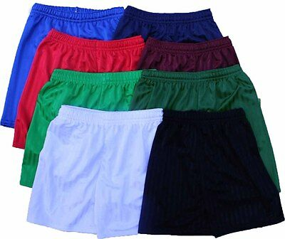 Boys Girls Kids Childrens School Sports Shadow Stripe PE Shorts 3 - 12 years New