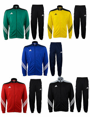 mens Adidas Full Zip Tracksuit Jogging Bottoms Top Sports Football Tracksuits