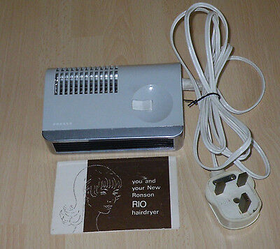 RONSON 'RIO' HAIRDRYER - VINTAGE LATE 1960's / EARLY 1970's