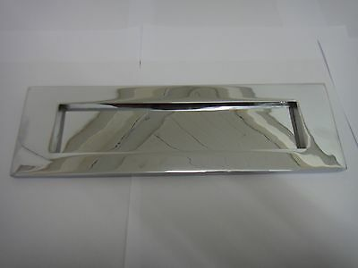 "VICTORIAN SPRUNG LETTER PLATE / LETTER BOX 10""x3"" IN POLISHED CHROME FINISH (TP)"