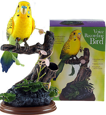 Yellow Talk Back Voice Recording Parrot Bird - Novelty Gift