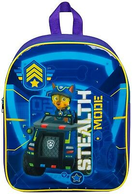 Kids Childrens Paw Patrol Ready For Action Backpack School Travel Rucksack Bag