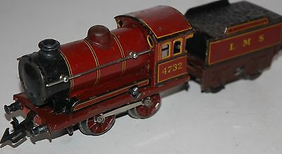 Bing O Gauge 0-4-0 Loco And Tender In Lms Livery
