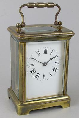 ANTIQUE FRENCH CARRIAGE CLOCK by RICHARD & Co.  working 8 day clock