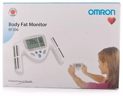 Omron BF306 BMI & Percentage Hand Held Body Fat Composition Monitor New