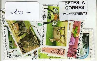 BETES A CORNE 25 timbres différents