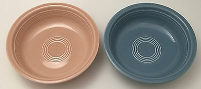 Lot of 2 Fiesta Ware Soup Cereal Bowls Periwinkle Blue & Apricot