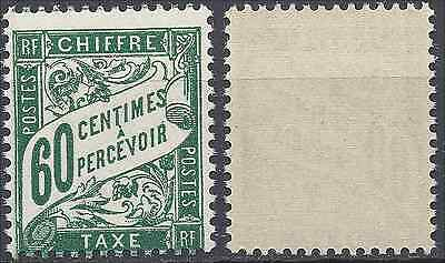 France Timbre Taxe N°38 Neuf ** Luxe Gomme D'origine Mnh