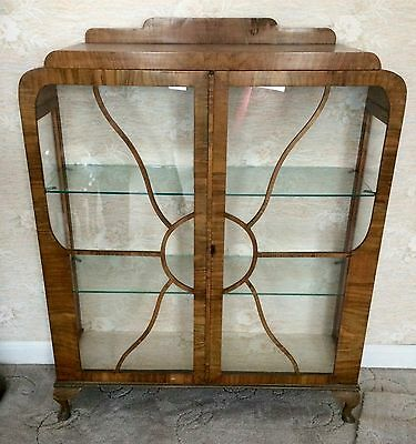Vintage Art Deco Display Cabinet Antique REDUCED