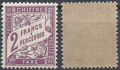 France Timbre Taxe N°42 Neuf ** Luxe Gomme D'origine Mnh