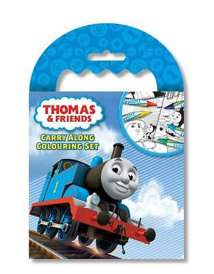 Thomas and Friends Carry Along Colouring Set Pad Pencils Activity Kids