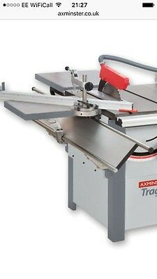 Axminster Sliding Carriage Saw Bench Squaring Table Cast Iron Panel Saw