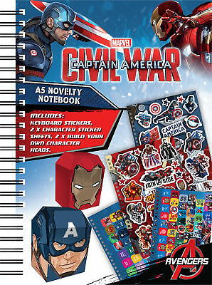 Captain America Civil War A5 Notebook Notepad School Party Bag