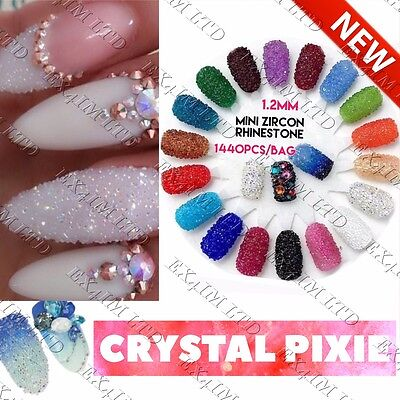 NEW ARRIVAL CRYSTAL PIXIE 3D Nails Micro Zircon 1.2mm Mini Nail Rhinestones POSH