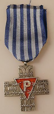 The Auschwitz Cross Medal Award Krzyż Oświęcimski POLAND