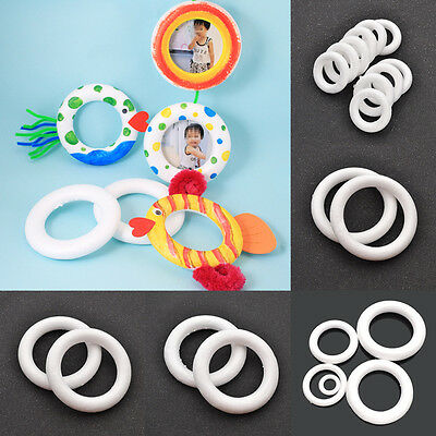 White Foam Ring for DIY Painting Wreaths Mickey Mouse Fish Kids Bedroom Decor