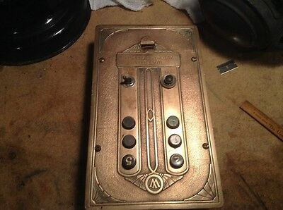 antique watson automatic elevator box brass or bronzes