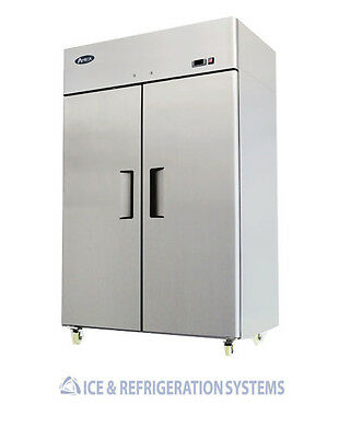 Stainless Steel  2 Door Commercial Reach In  Refrigerator Cooler  8005