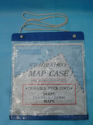 HI-GEAR WEATHERPROOF MAP CASE with neck cord, for orienteering, walking, cycling