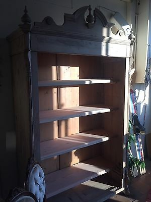 Large Old Pine Bookcase/storage