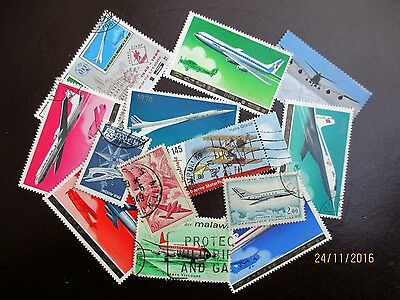 Stamps Thematics Selection Airplane Aircraft Aeroplanes Flight Travel Stamps