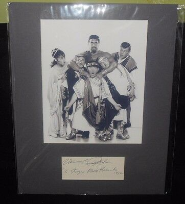 Rare The 3 Stooges Meet Hercules Autographed Picture Quinn Redeker Hecurles 1962