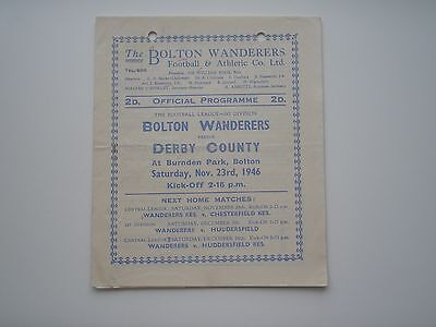 Bolton Wanderers V Derby County 1946-47